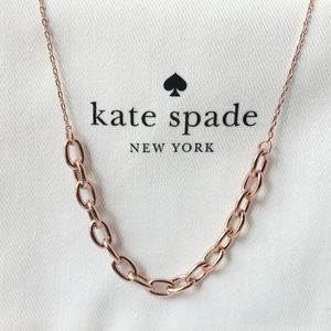 Kate spade rhodium plated rose gold tone necklace